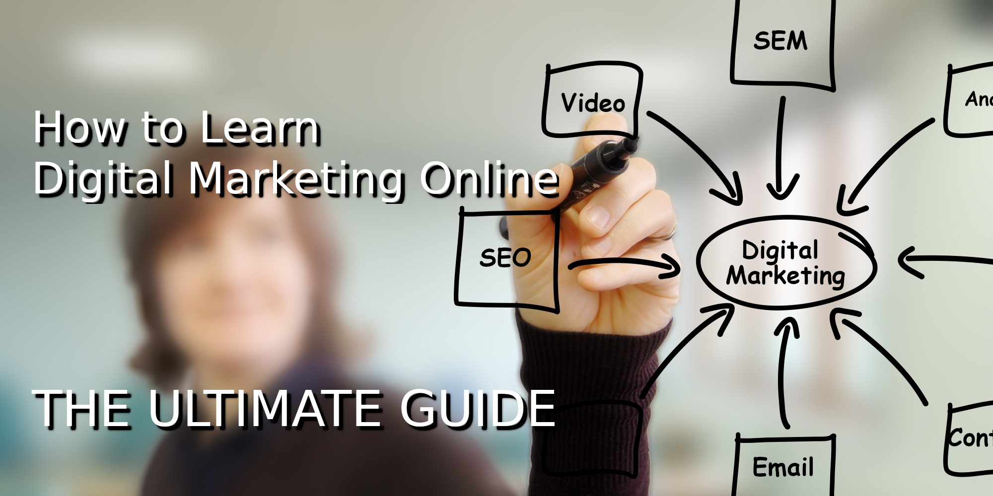 How To Learn Digital Marketing Online - The Ultimate Guide - featured image