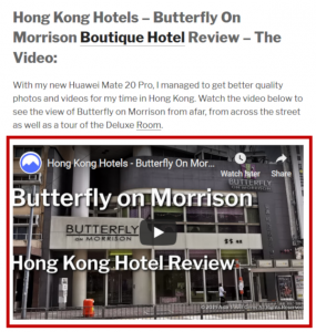 On Page SEO - YouTube Video Embed