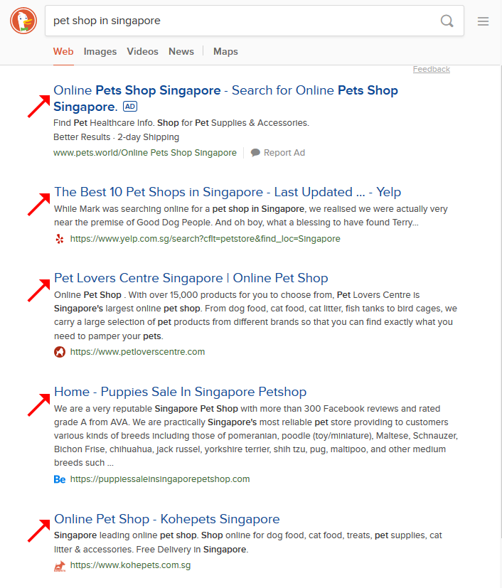 On Page SEO - Examples of Title Tags