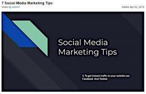 7 Social Media Marketing Tips - Free Training Video