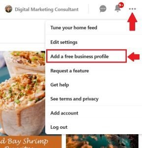 Add A Free Business Profile Option on Pinterest
