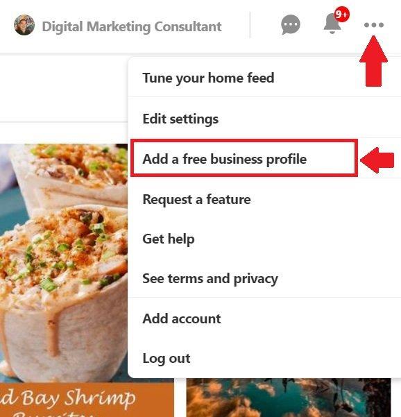 Add A Free Business Profile Option on Pinterest
