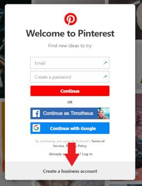 Create Pinterest Business Account