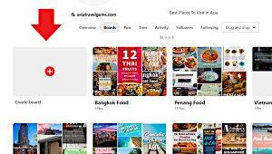 Create a Pinterest Board Option