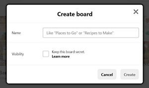 Pinterest Board Details