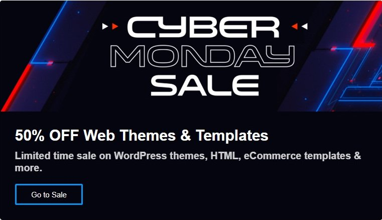 Envato Black Friday and Cyber Monday 2019 Deal