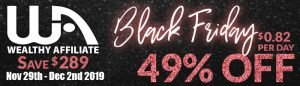 Wealthy Affiliate Black Friday 2019 Banner Ad 700x200