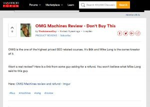 OMG Machines Review At Warrior Forum