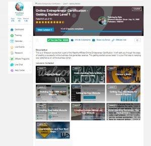 Online Entrepreneur Certification - Getting Started - Level 1