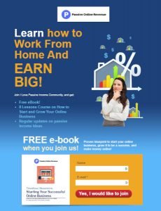 Learn How To Work From Home And Earn Big Landing Page
