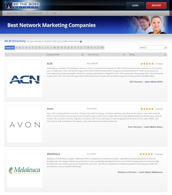 Be The Boss Network MLM Directory