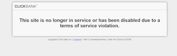 Be The Boss Network Violated ClickBank Terms of Service