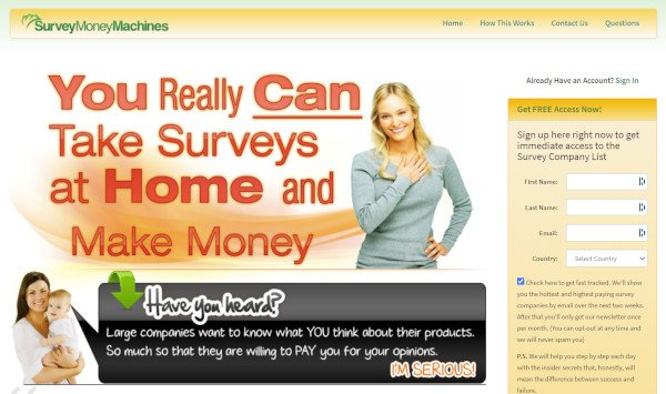 Survey Money Machines Home Page