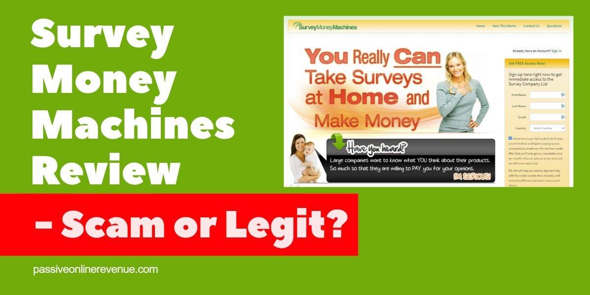 Survey Money Machines Review - Scam or Legit?