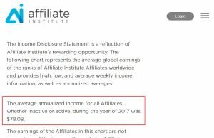 Average Annualized Income was $78.08