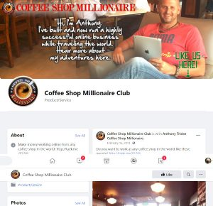 Coffee Shop Millionaire Facebook Page