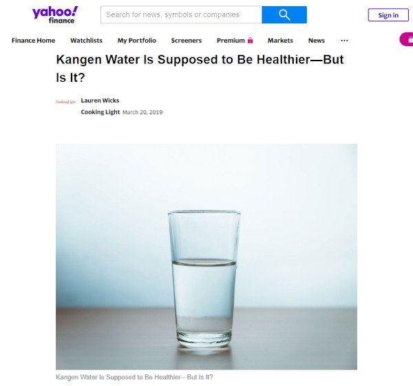 Kangen Water is Supposed to be Healthier But Is It?
