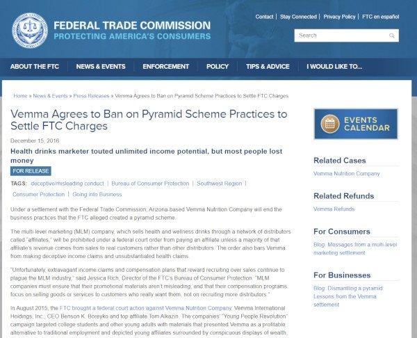 FTC - Vemma Ban