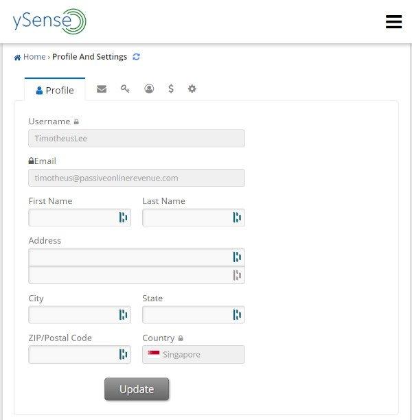 ySense - Profile