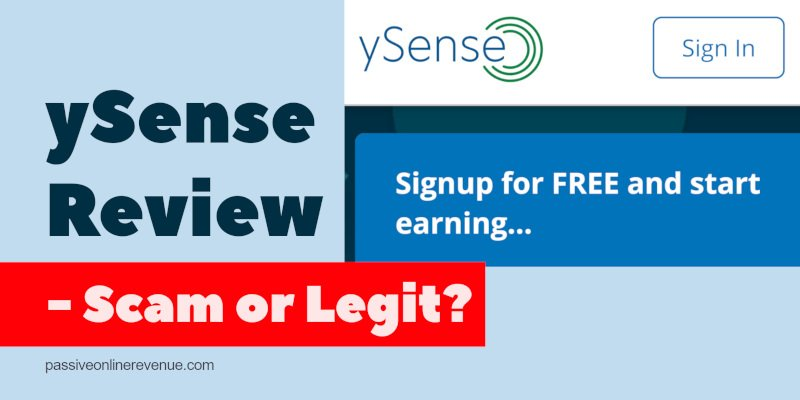 ySense Review - Scam or Legit?