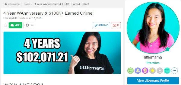 Grace aka Littlemama - $102,071 In 4 Years