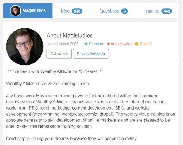 Webinar Trainer Jay aka Magistudio