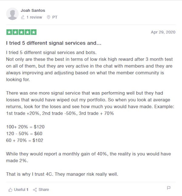 4C Trading Reviews on Trustpilot - Joah Santos