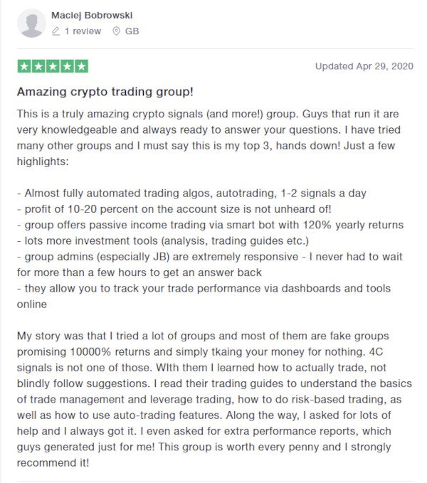 4C Trading Reviews on Trustpilot - Maclej Bobrowski