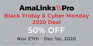 AmaLinks Pro Black Friday and Cyber Monday 2020 Deal