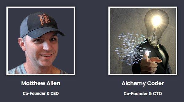 AmaLinks Pro Co-Founders - Matthew Allen and Alchemy Coder