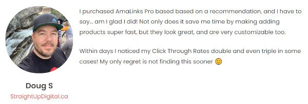AmaLinks Pro Testimonial - DougS