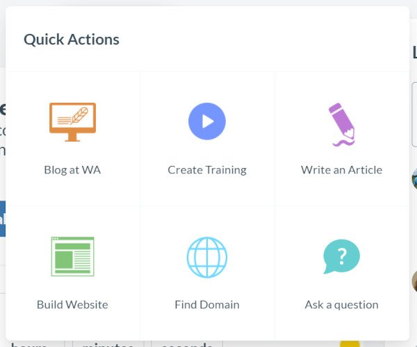 What You Get in Quick Actions Option