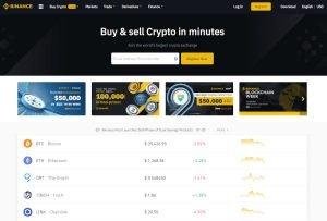 Bitcoin Exchange Cryptocurrency Exchange Binance Homepage