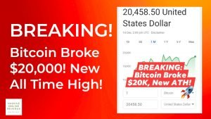 Breaking! Bitcoin Broke $20,000 Mark! New All Time High (ATH)!