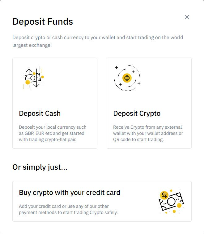 Options to Buy Cryptocurrencies on Binance