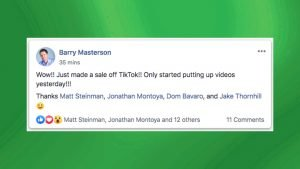 15 Second Free Leads Testimonial by Barry Masterson