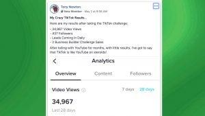 15 Second Free Leads Testimonial by Tony Newton