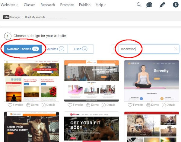 Search for Theme Suitable for Your Niche