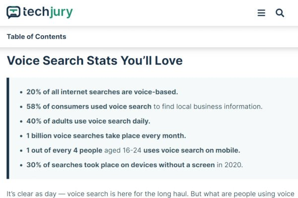 Statistics for Voice Search in 2020