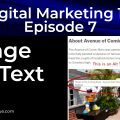 On Page SEO - Image Alt Text Tag - 4th of 12 Techniques That Work | Episode 7 | Digital Marketing 101