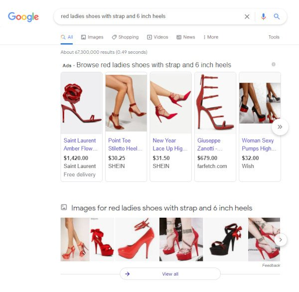 Today, Images Appear At The Top Area of Search Results