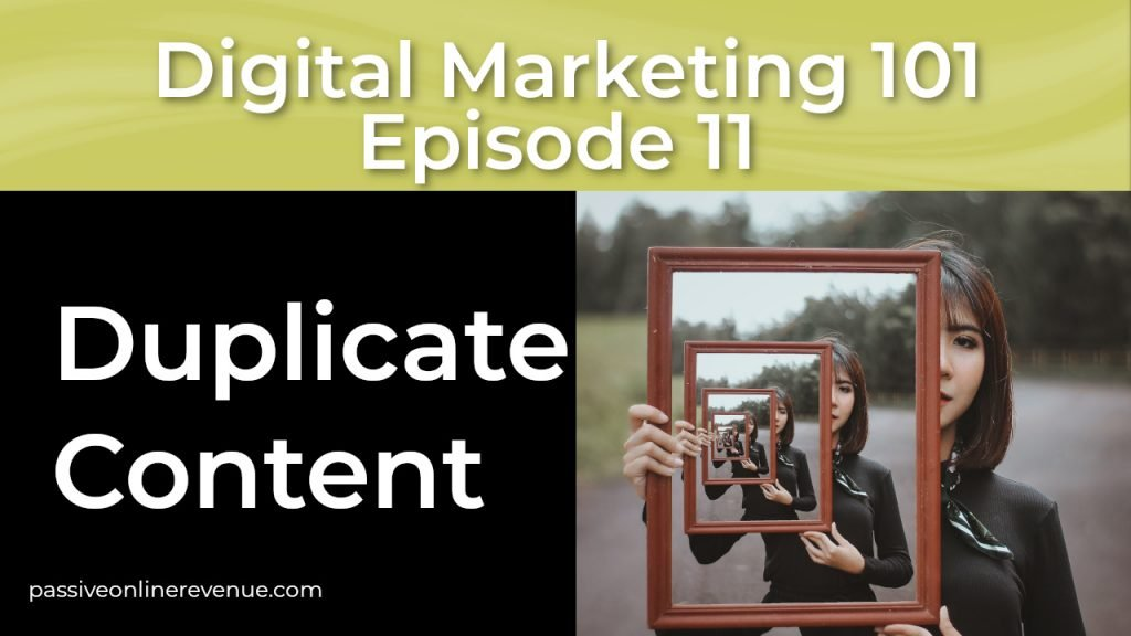 On Page SEO - Duplicate Content - 8th of 12 Techniques That Work | Episode 11 | Digital Marketing 101