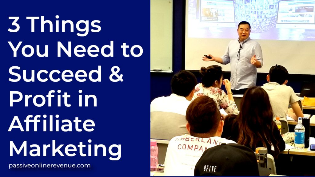 3 Things You Need to Succeed And Profit in Affiliate Marketing